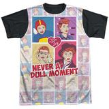 I Love Lucy- All Over Panels Black Back Camiseta