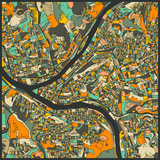 Pittsburgh Map Prints by Jazzberry Blue