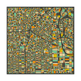 Los Angeles Map Prints by Jazzberry Blue