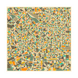 Milan Map Prints by Jazzberry Blue