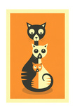 3 Cats Posters by Jazzberry Blue