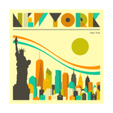 New York Skyline Posters by Jazzberry Blue