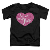 Toddler: I Love Lucy- Floral Logo T-shirts