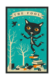 Tarot Card Cat: The Fool Prints by Jazzberry Blue