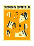 Emergency Escape Plan 2 Prints by Jazzberry Blue