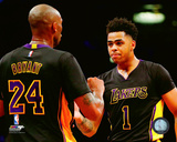 Kobe Bryant & D'Angelo Russell 2015-16 Action Photo