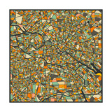 Berlin Map Poster von Jazzberry Blue