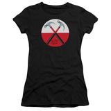 Juniors: Pink Floyd- Hammers Button T-Shirt