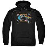 Hoodie: Pink Floyd- Distressed Dark Side Band Stamp Pullover Hoodie
