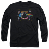 Long Sleeve: Pink Floyd- Distressed Dark Side Band Stamp T-Shirt