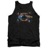 Tank Top: Pink Floyd- Distressed Dark Side Band Stamp Tank Top