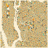 Manhattan Map Posters by Jazzberry Blue