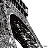 Tour Eiffel Curve Plakater av Dominique Massot