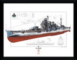 World Of Warships - Atago Stampa del collezionista