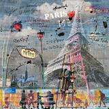 Impressions urbaines: La Tour Eiffel Pósters por  Maïlo / M-L Vareilles