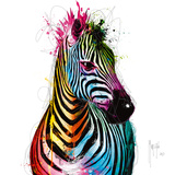 Zebra Pop Lámina por Patrice Murciano