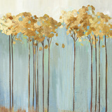 Teal Trees II Prints by Allison Pearce