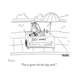 """Try to ignore the hot-dog smell."" - New Yorker Cartoon Premium Giclee Print by Zachary Kanin"