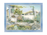 White Wall Garden Giclee Print by Kim Jacobs