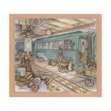 Trip by Train Giclee Print by Kim Jacobs