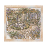 Well Inthe Garden Giclee Print by Kim Jacobs