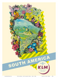 South America - Rio De Janeiro, Brazil - KLM Royal Dutch Airlines Posters by  Pacifica Island Art