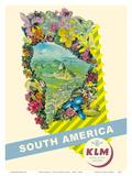 South America - Rio De Janeiro, Brazil - KLM Royal Dutch Airlines Pôsters por  Pacifica Island Art