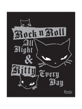 RNR Kitty All Night Posters by  Emily the Strange