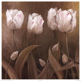 Sepia Tulips II Print by Wendy Darker