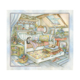 Trundle Bed Giclee Print by Kim Jacobs