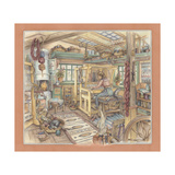 Weaving Room Giclee Print by Kim Jacobs