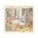 Undisturbed in the Study Giclee Print by Kim Jacobs