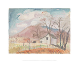 Shed and Hogback Mountain[Rockbridge Baths] Giclee Print by Pierre Daura