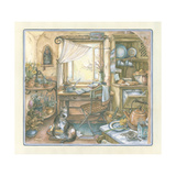 Kitchen Desk Giclee Print by Kim Jacobs