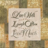 Live Well … Posters by Diane Stimson