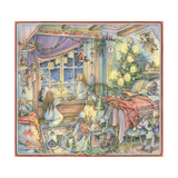 Waiting for Santa Giclee Print by Kim Jacobs