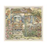 Cobblestone Birdhouses Giclee Print by Kim Jacobs