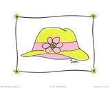 Daisy Delight Hat Print by Diane Stimson