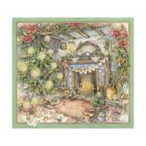 Christmas Hearth Giclee Print by Kim Jacobs