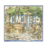 Cafe Preparing for the Day Giclee Print by Kim Jacobs