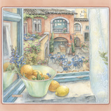 Courtyard Cafe Giclee Print by Kim Jacobs