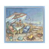 Beachside Table Giclée-vedos tekijänä Kim Jacobs