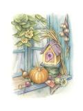 Harvest Birdhouse Giclee Print by Kim Jacobs