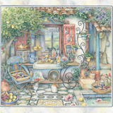 Courtyard Kitchen Giclee Print by Kim Jacobs