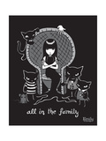 All In the Family Prints by  Emily the Strange