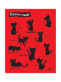 Kitties Rock Posters by  Emily the Strange