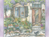 French Village Gardening Giclee Print by Kim Jacobs