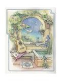 Music Garden-Guitar Giclee Print by Kim Jacobs