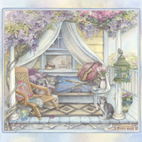 Daybed on the Porch Giclee Print by Kim Jacobs