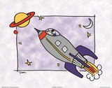 Rocketship I Posters by Diane Stimson